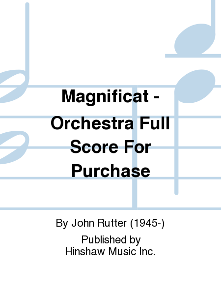 Magnificat - Orchestra Full Score For Purchase