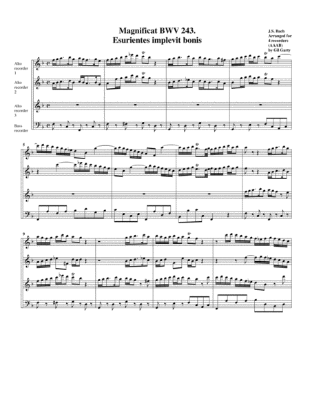 Esurientes implevit bonis from Magnificat BWV 243