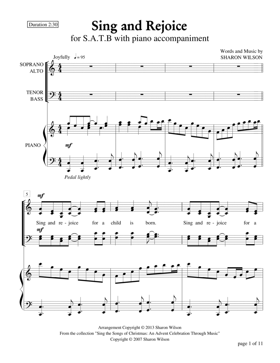 Sing and Rejoice (SATB with piano accompaniment)