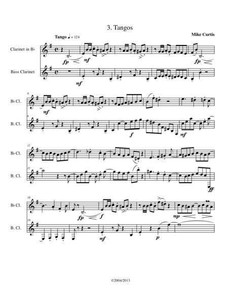 Santa Cruz Suite for Clarinet and Bass Clarinet