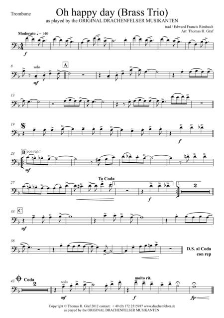 Oh happy day (Brass Trio)