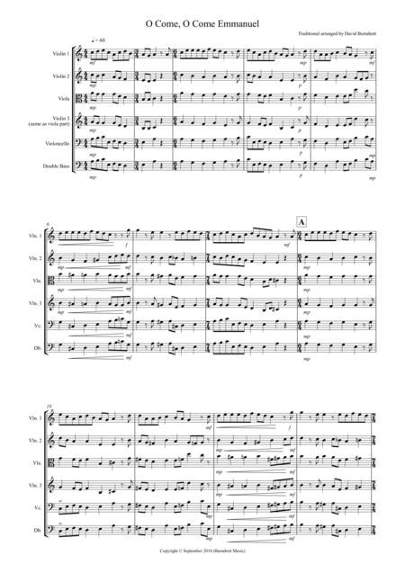 O Come, O Come Emmanuel for String Orchestra