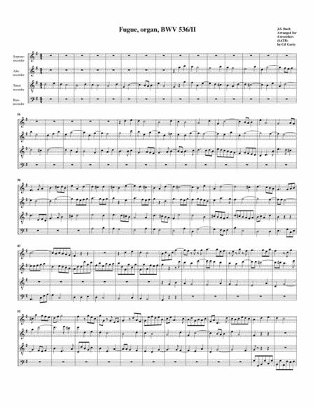 Fugue for organ, BWV 536/II