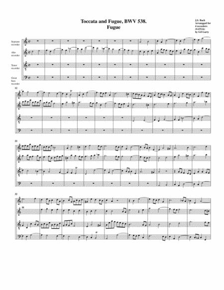 Fugue for organ, BWV 538/II