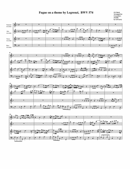 Fugue for organ, BWV 574