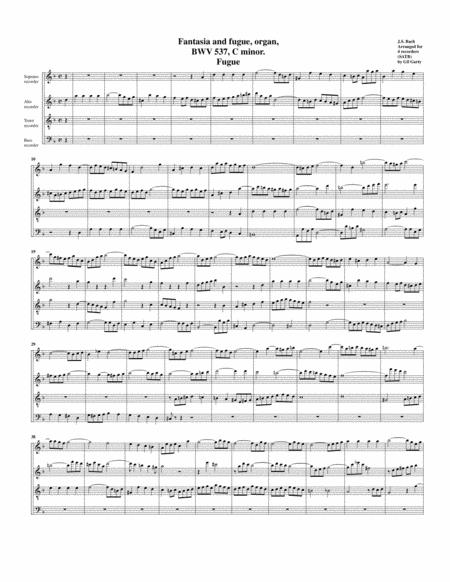 Fugue for organ, BWV 537/II