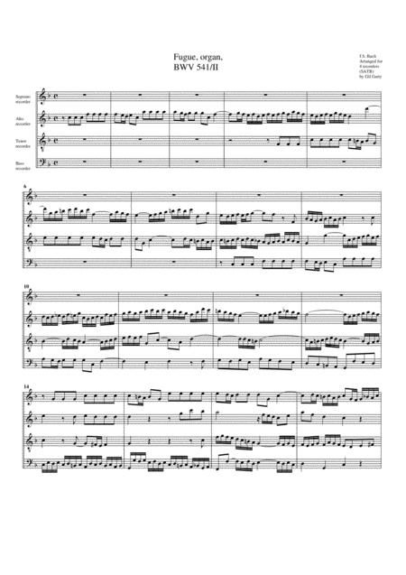 Fugue for organ, BWV 541/II