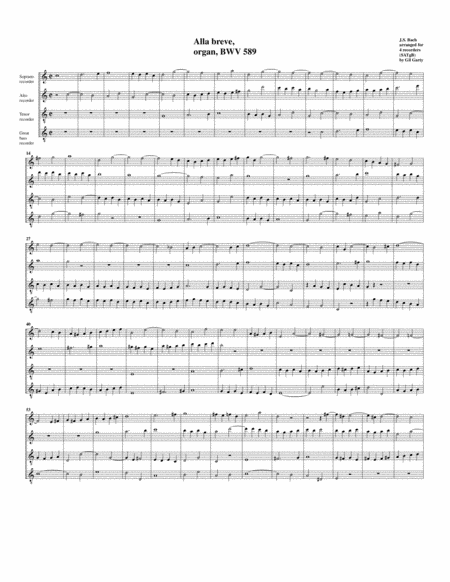 Alla breve, BWV 589