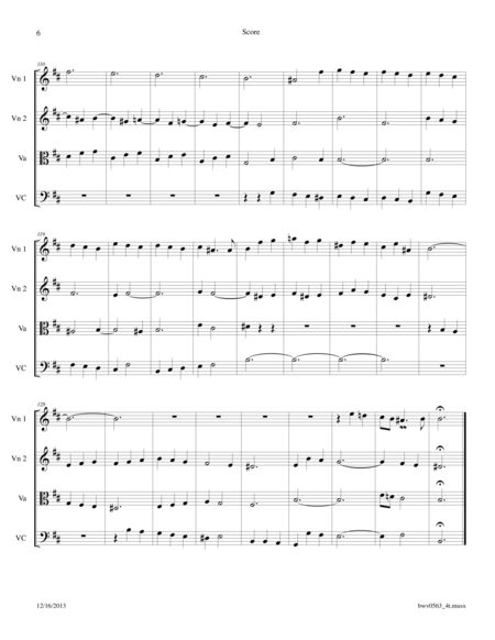 Bach: Fantasia in B minor BWV 563 arr. for String Quartet