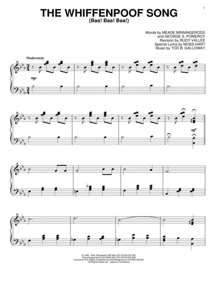 The Whiffenpoof Song (Baa! Baa! Baa!)