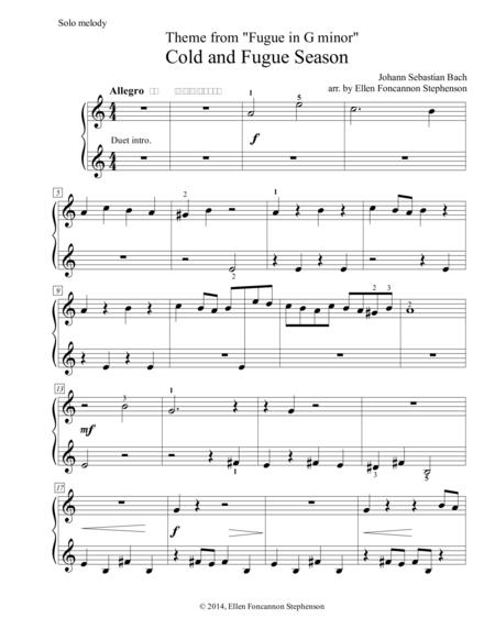 Cold and Fugue Season (G minor Fugue by J.S. Bach)