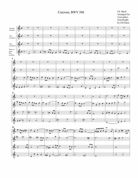 Canzona, BWV 588