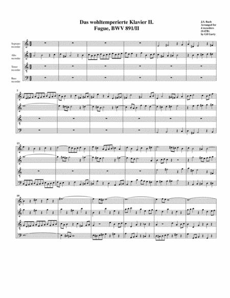 Fugue from Das wohltemperierte Klavier II, BWV 891/II
