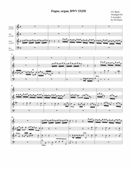 Fugue for organ, BWV 532/II