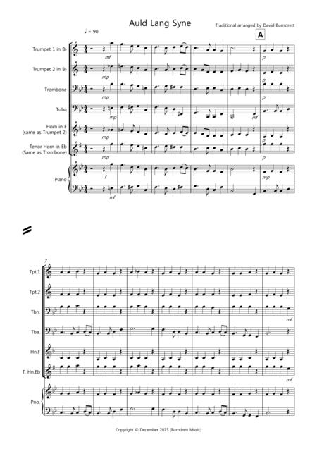 Auld Lang Syne for Brass Quartet