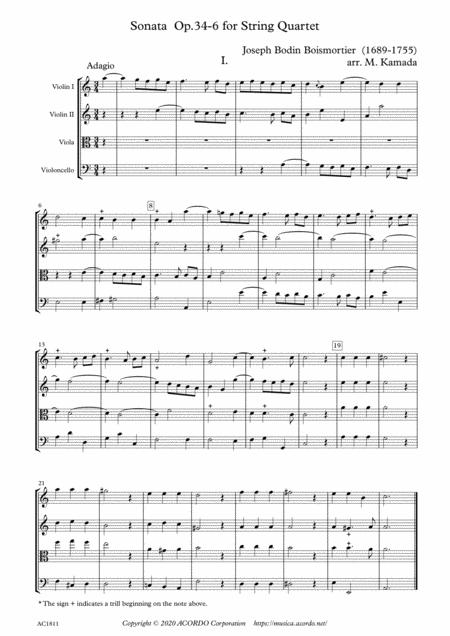 Sonata Op.34-6 for String Quartet