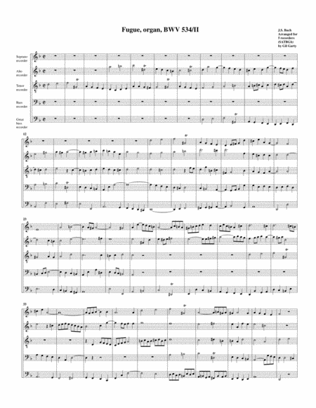 Fugue for organ, BWV 534/II