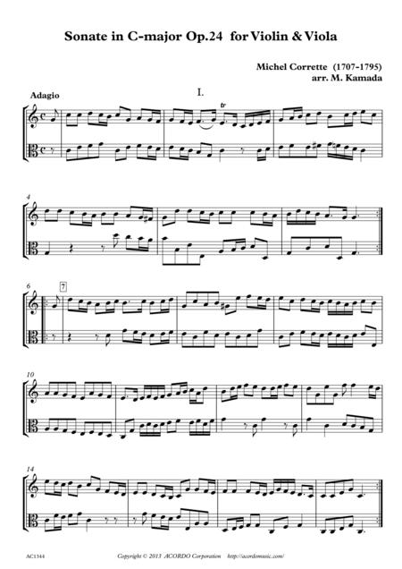 Sonate in C-major Op.24 for Violin & Viola