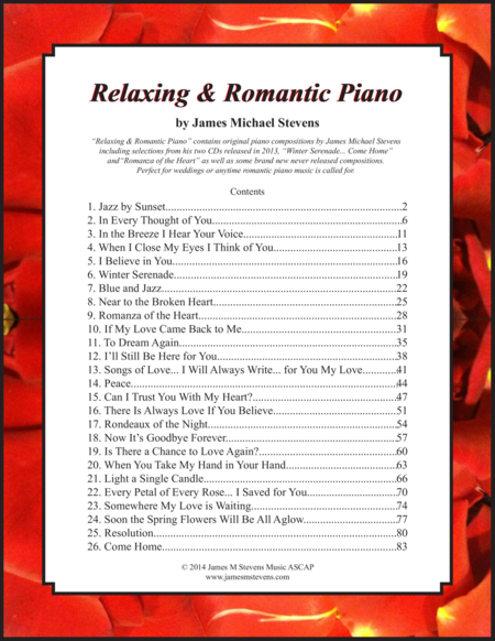 Relaxing & Romantic Piano