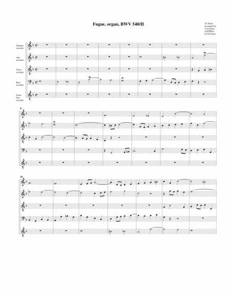 Fugue for organ, BWV 540/II