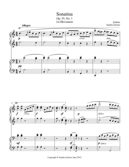 Sonatina-Kuhlau (Op. 55, No. 1)