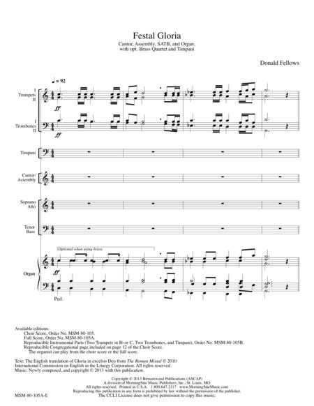Festal Gloria (Full Score)