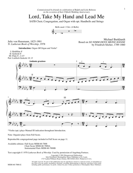 Lord, Take My Hand and Lead Me (Full Score)