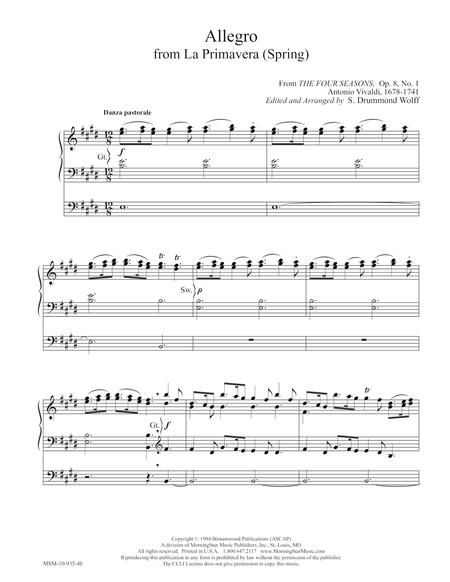 Allegro from La Primavera (Spring)