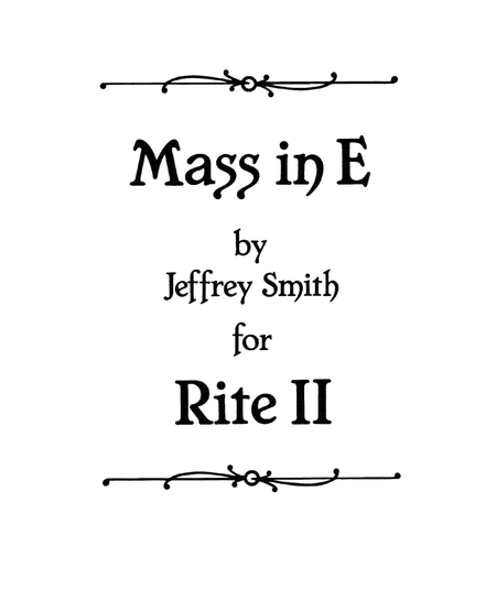 Mass in E for Rite Il  (Congregational Hymn Sheet)