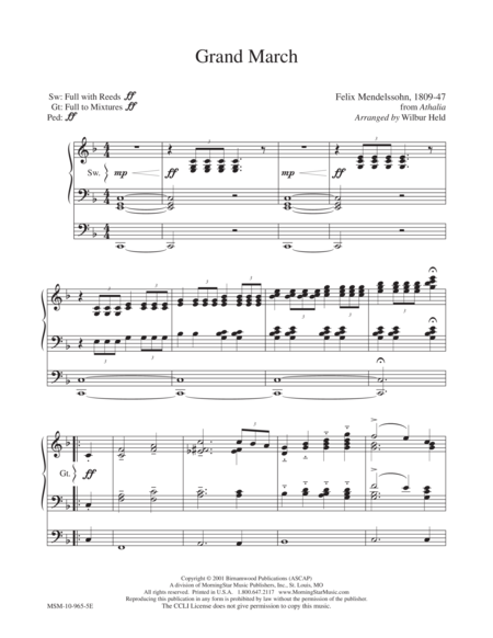 Grand March (from Athalia - F. Mendelssohn)