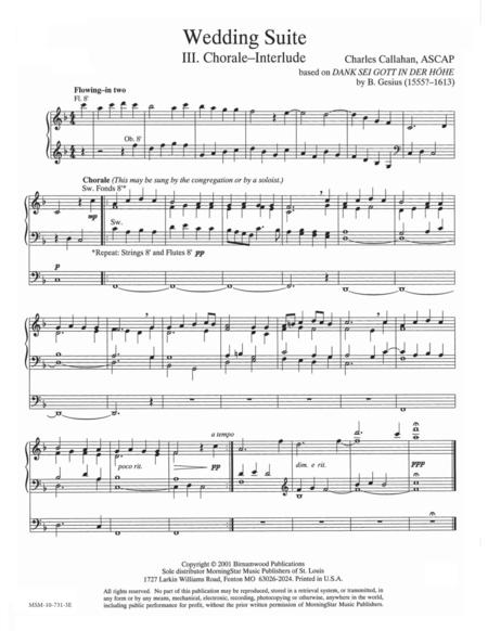 Wedding Suite: Chorale-Interlude