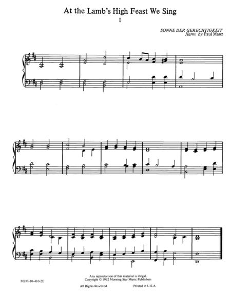 At the Lamb's High Feast We Sing (2 settings)