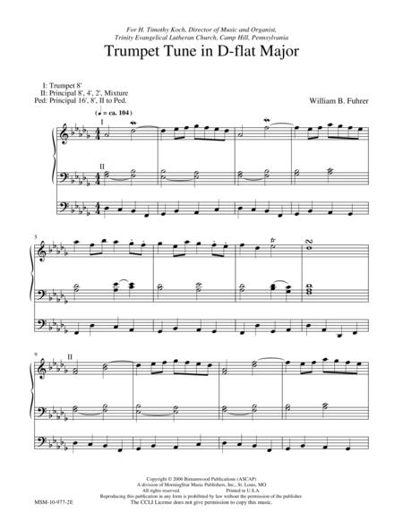 Trumpet Tune in D-flat Major