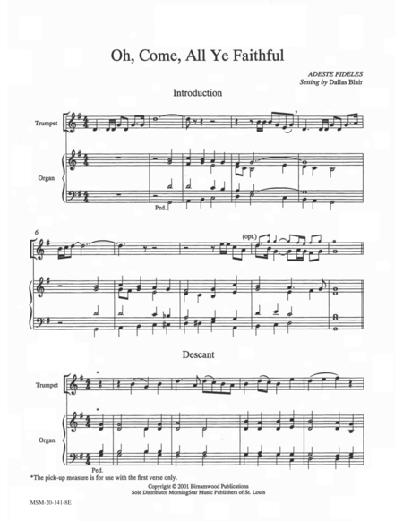 Download Oh, Come, All Ye Faithful Sheet Music By Dallas Blair - Sheet Music Plus