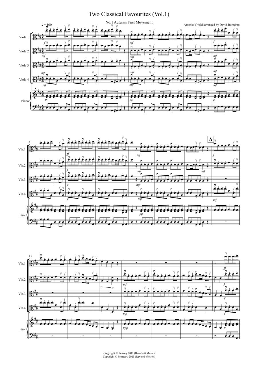 2 Classical Favourites for Viola Quartet (volume one)