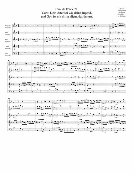 Coro: Dein Alter sei wie deine Jugend, und Gott ist mit dir in allem, das du tust from Cantata BWV 71