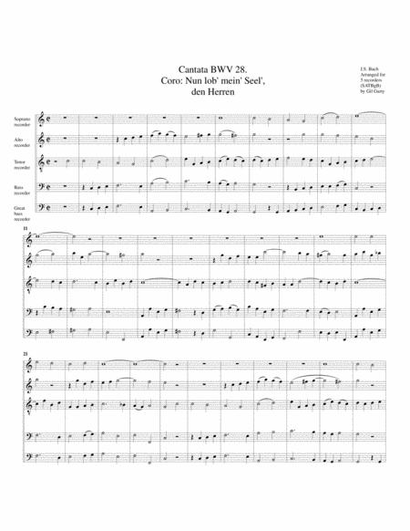 Coro: Nun lob', mein Seel' den Herren from Cantata BWV 28