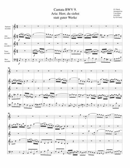 Aria-Duetto: Herr, du siehst statt guter Werke from Cantata BWV 9