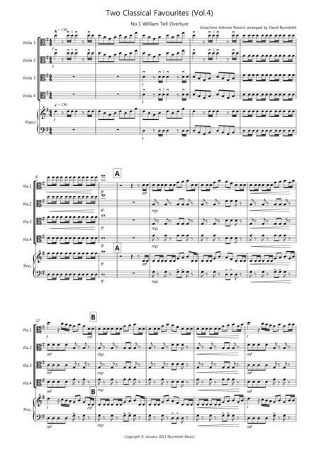 2 Classical Favourites for Viola Quartet (volume four)