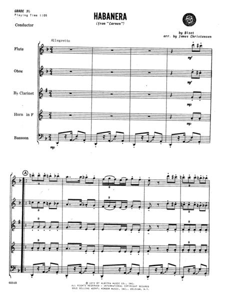 Habanera (from Carmen) - Full Score