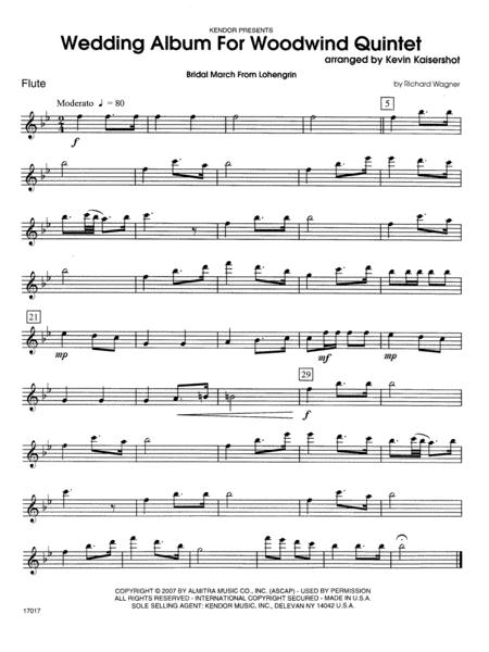 Wedding Album For Woodwind Quintet - Flute