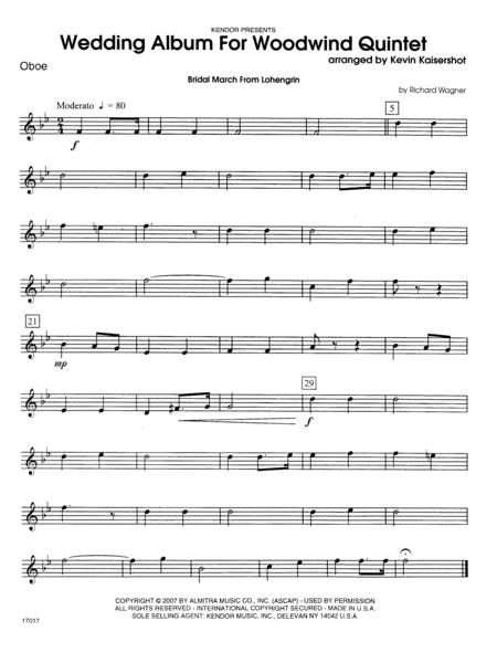 Wedding Album For Woodwind Quintet - Oboe