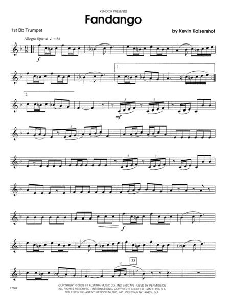 Fandango - 1st Bb Trumpet