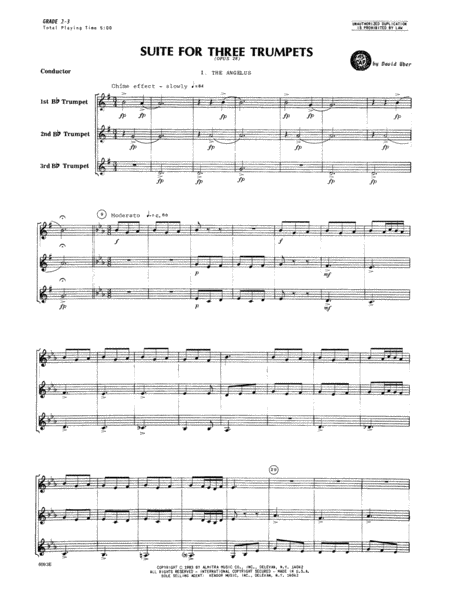 Suite For Three Trumpets (Opus 28) - Full Score