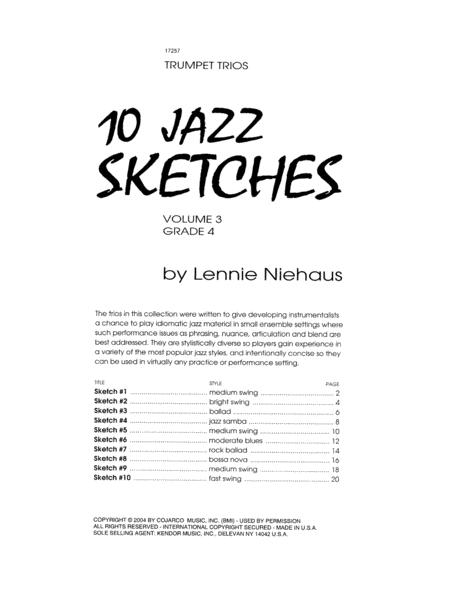 10 Jazz Sketches, Volume 3