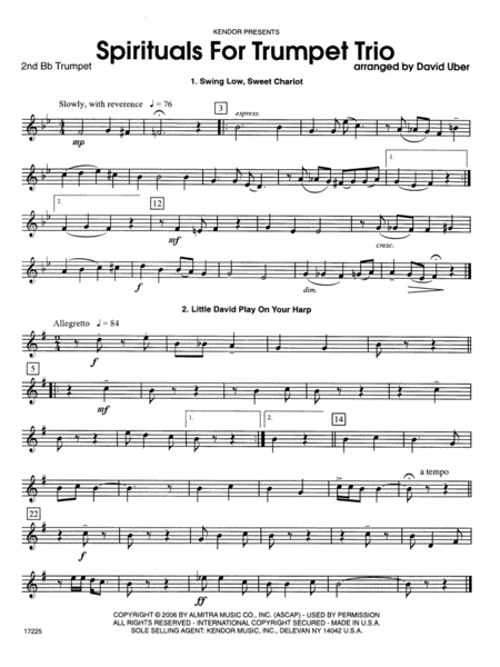 Spirituals For Trumpet Trio - 2nd Bb Trumpet