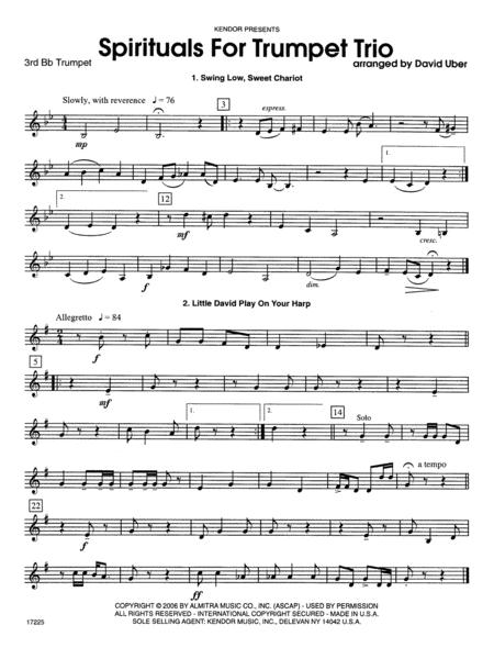 Spirituals For Trumpet Trio - 3rd Bb Trumpet