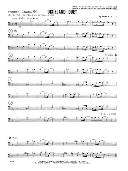 Dixieland Duet - Trombone