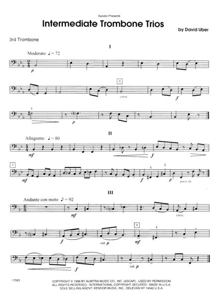 Intermediate Trombone Trios - 3rd Trombone