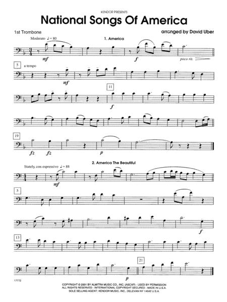 National Songs Of America - 1st Trombone